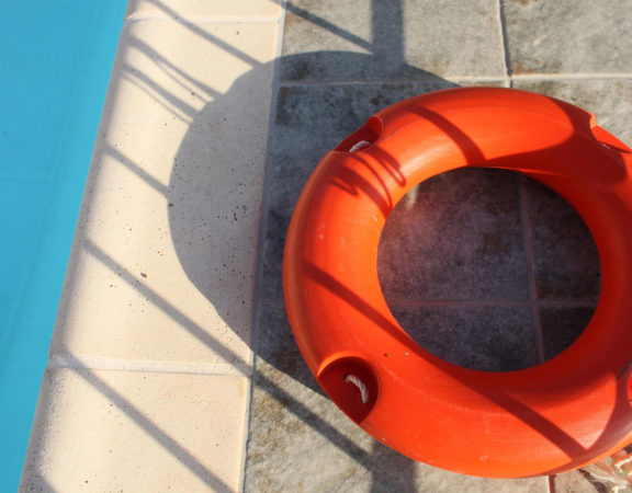 Life Saver By Pool