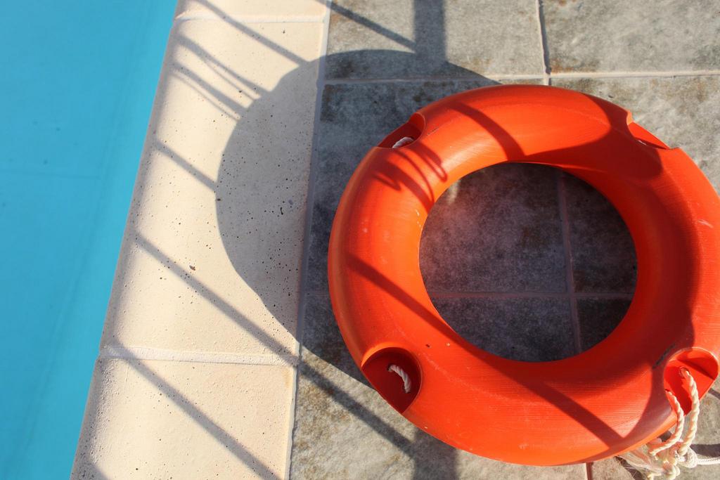 Life Saver By Pool